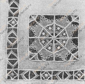 Узор вышивки «вологодским стеклом»