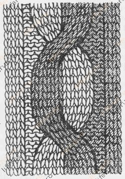 схема вязания ушек